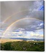 Rainbow In Jerome Canvas Print