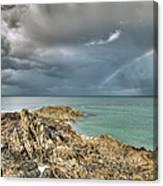 Rainbow In Storm Clouds Pointe De Saint Cast  Canvas Print