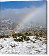 Rainbow In The Mountain Canvas Print