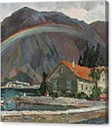 Rainbow In The Mountains Canvas Print