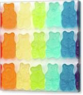 Rainbow Jelly Bear Candy Canvas Print