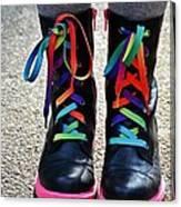 Rainbow Laces Canvas Print