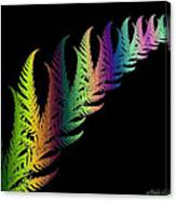 Rainbow Leaves Fractals Canvas Print