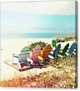Rainbow Of Adirondack Chairs IIII Canvas Print