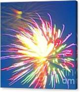 Rainbow Of Color Abstract Fireworks Canvas Print