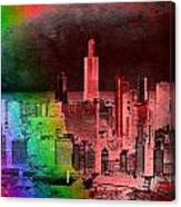 Rainbow On Chicago Mixed Media Textured Canvas Print
