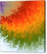 Rainbow On Fire Canvas Print