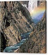 Rainbow On The Lower Falls Canvas Print