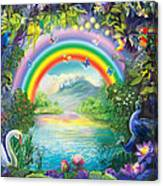 Backgraund Rainbow On Varshana  Canvas Print