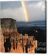 Rainbow Over  Bryce Canyon Canvas Print