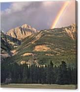 Rainbow Over Colin Range Jasper Np Canvas Print