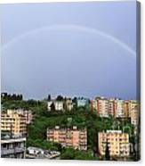 rainbow over Genova Canvas Print