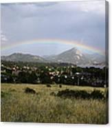 Rainbow Over Lake Estes Canvas Print