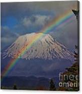 Rainbow Over Mount St. Helens  Canvas Print