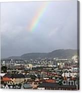 Rainbow Over Oslo Canvas Print