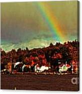 Rainbow Over Winnipesaukee Two Canvas Print