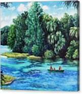 Rainbow River At Rainbow Springs Florida Canvas Print