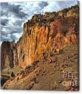 Rainbow Rocks And A River Canvas Print