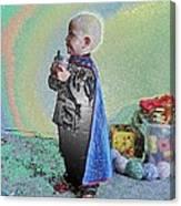 Rainbow Sherbet Little Ninja Boy Canvas Print