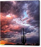 Rainbow Skies At Sunset  Canvas Print