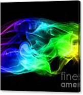Rainbow Smoke Canvas Print