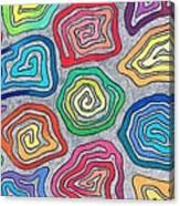Rainbow Snails Canvas Print