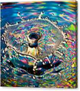 Rainbow Splash Canvas Print