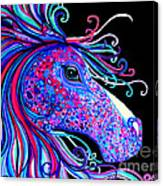 Rainbow Spotted Horse2 Canvas Print
