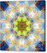 Rainbow Starburst Mandala Canvas Print