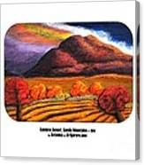 Rainbow Sunset Sandia Mtns Canvas Print