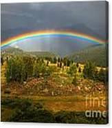 Rainbow Through The Forest Canvas Print