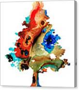 Rainbow Tree 2 - Colorful Abstract Tree Landscape Art Canvas Print
