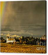 Rainbow Over The Tower Canvas Print