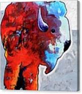 Rainbow Warrior Bison Canvas Print