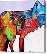 Rainbow Warrior - Fox Canvas Print