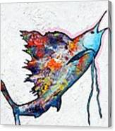 Rainbow Warrior - Sailfish Canvas Print