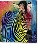 Rainbow Zebra Canvas Print