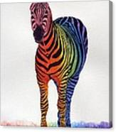 Rainbow Zebra Iv Canvas Print