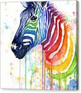 Rainbow Zebra - Ode To Fruit Stripes Canvas Print