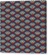 Rainbowaves Pattern Dark Canvas Print