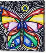 Rainbows And Butterflies Canvas Print