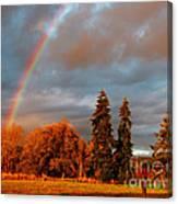 Rainbow's End At Rainbow Falls Canvas Print