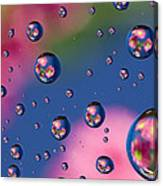 Raindrops And Flowers 7 Canvas Print