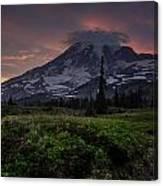 Rainier Fire Mountain Canvas Print