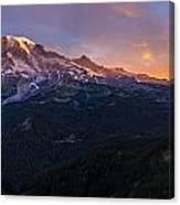 Rainier Soaring Skies Canvas Print