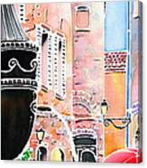 Raining In St-paul De Vence Canvas Print
