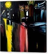 Raining Night In The City Canvas Print