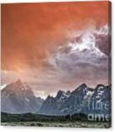 Raining Orange Canvas Print
