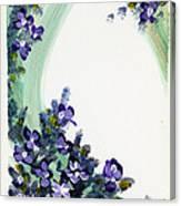 Raining Violets Canvas Print