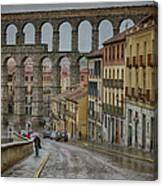 Rainy Afternoon In Segovia Canvas Print